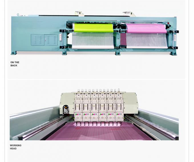 Durable Multi Head Embroidery Machine , Quilting And Embroidery Machine 1650mm X Area