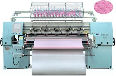 AC380V High Speed Quilting Bed Sheet Making Machine With Two Needle Bars